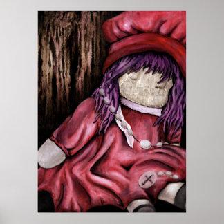 babtized. muñeca. pintura de aceite póster