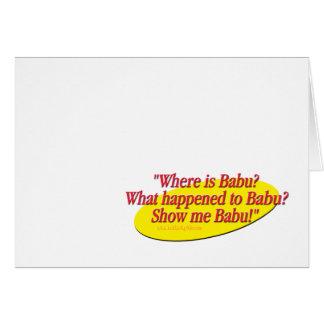 Babu!... Stationery Note Card