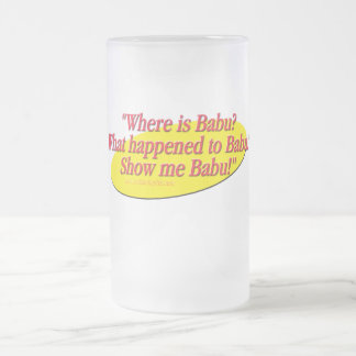 Babu!... 16 Oz Frosted Glass Beer Mug