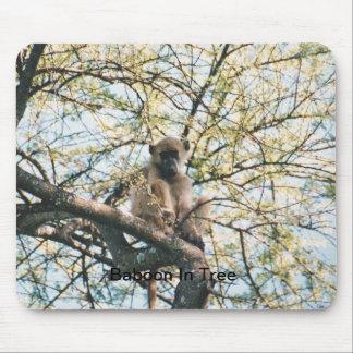 Babuino de Mouespad en árbol Alfombrilla De Ratones