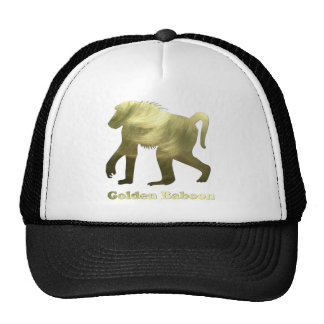 babuino de oro gorros bordados