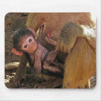 Babuino del bebé tapete de ratones