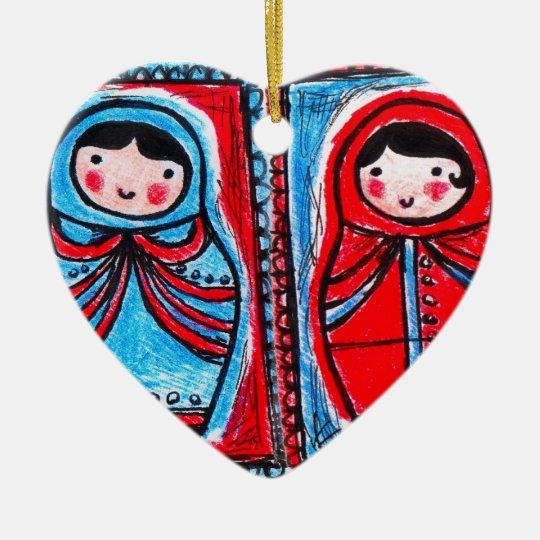 babushka heart ornament customise christmas etc