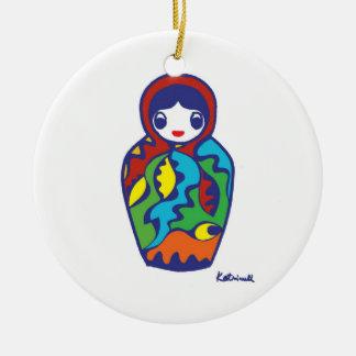 Babushka -Matryoshka Ceramic Ornament
