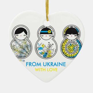 Babushka - Matryoshka, From Ukraine With Love Ceramic Ornament