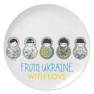 Babushka - Matryoshka, From Ukraine With Love Party Plate