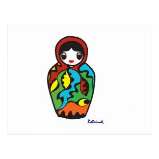 Babushka - Matryoshka Postcard