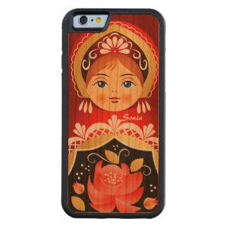 Babushka Matryoshka Red  Russian Doll Carved Cherry iPhone 6 Bumper Case