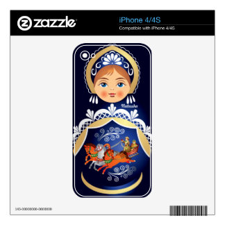 Babushka Matryoshka Russian Doll iPhone 4 Skin