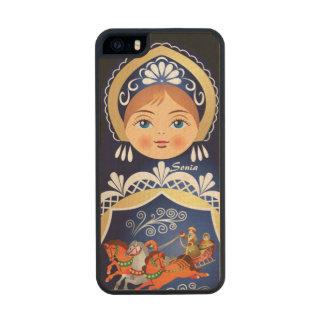 Babushka Matryoshka Russian Doll Carved® Maple iPhone 5 Case