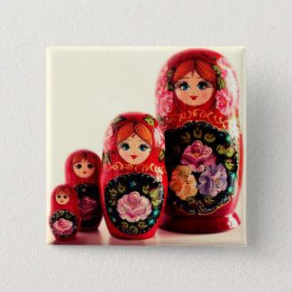 Babushka Russian Doll Button