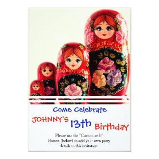 Babushka Russian Doll Card