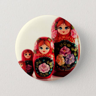Babushka Russian Doll Pinback Button