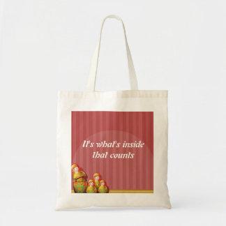 Babushka Tote Bag - It's What's Inside that Counts
