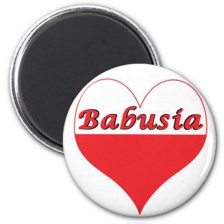 Babusia Polish Heart 2 Inch Round Magnet