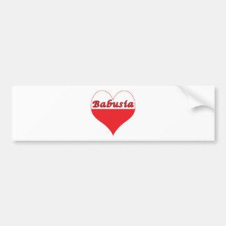 Babusia Polish Heart Bumper Sticker
