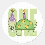 Baby 1st Birthday Round Stickers