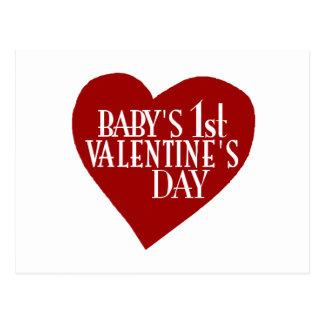 Baby 1st Valentine's Day Postcard