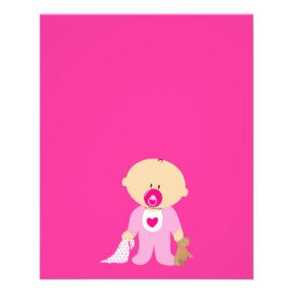 baby-310258  baby girl teddy pacifier blanket pink flyer