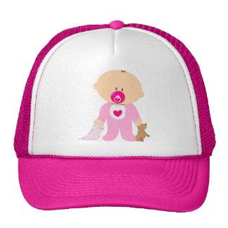 baby-310258  baby girl teddy pacifier blanket pink hat