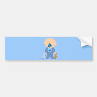 baby-310259  baby boy teddy pacifier blanket blue bumper sticker