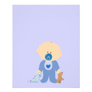 baby-310259  baby boy teddy pacifier blanket blue flyer
