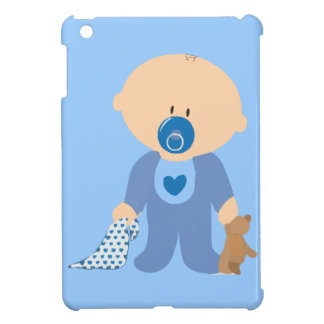 baby-310259 baby boy teddy pacifier blanket blue cover for the iPad mini