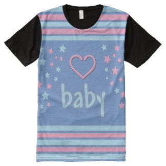 Baby 4 Life all over/Adult Baby tee/ Pink Blue All-Over-Print T-Shirt