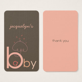 "Baby ""a"" in B Pink Girl Baby Shower DIY Gift Tag"