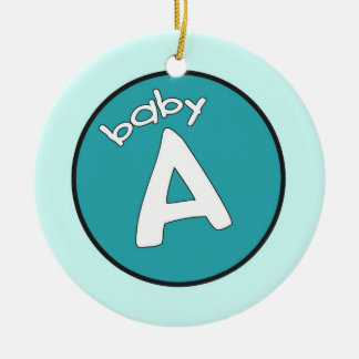 Baby A Personalized Ornament for Multiples