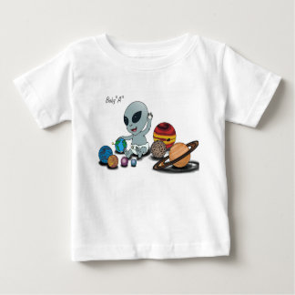 "Baby ""A"", Playing w/Planets Baby T-Shirt"