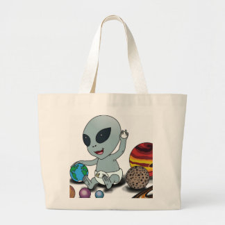 "Baby ""A"", Playing w/Planets Canvas Bags"