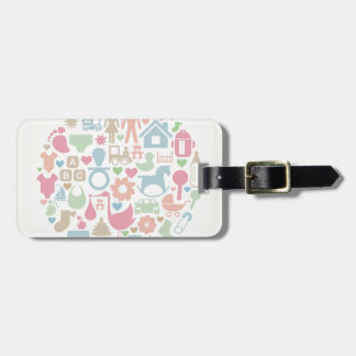 Baby a sphere bag tag