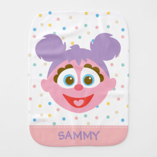 Baby Abby Cadabby Big Face | Add Your Name Baby Burp Cloth