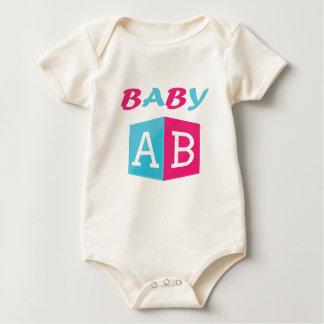 Baby ABC Block Baby Bodysuit