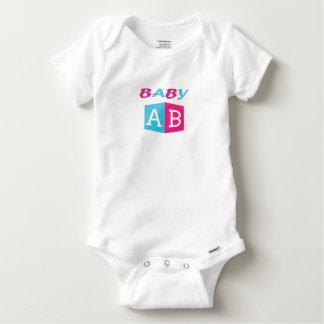 Baby ABC Block Baby Onesie
