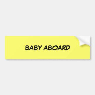 BABY ABOARD BUMPER STICKER