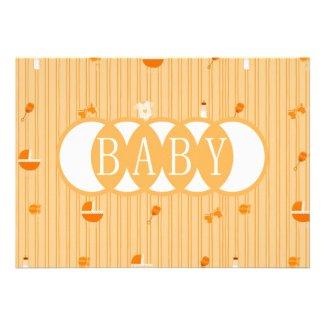 Baby Accessories Peach Baby Shower Invitation