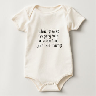 Baby Accountant...just like Mom/Dad Baby Bodysuit
