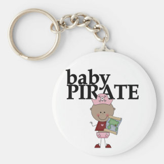 Baby African American Pirate Tshirts and Gifts Keychain