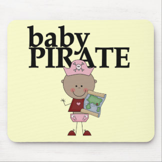 Baby African American Pirate Tshirts and Gifts Mouse Pad
