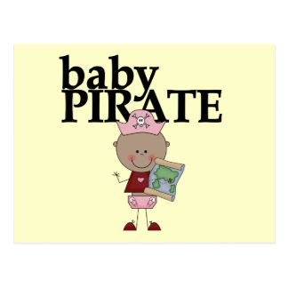 Baby African American Pirate Tshirts and Gifts Postcard