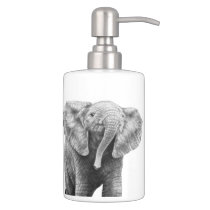 Baby African Elephant Bath Set