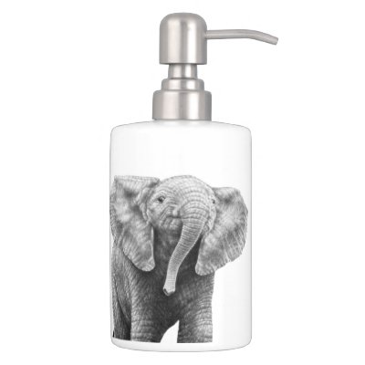 White Elephant Toothbrush Holder U0026 Soap Dispenser | Zazzle.com