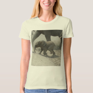 Baby African Elephant Crossing T Shirt