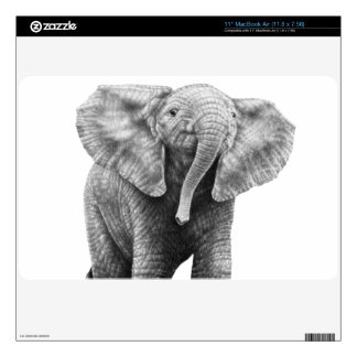 Baby African Elephant Zazzle Skin Decal For MacBook Air