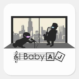 Baby AJ Jazz Club Square Sticker