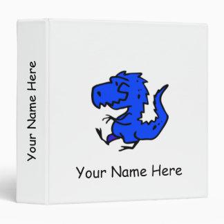 BABY ALBUM - Little Blue Dinosaur Binder (White)