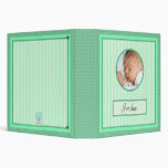 Baby Album Stripes and Dots Green Binder