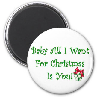 Baby All I Want For Christmas Is You Magnet